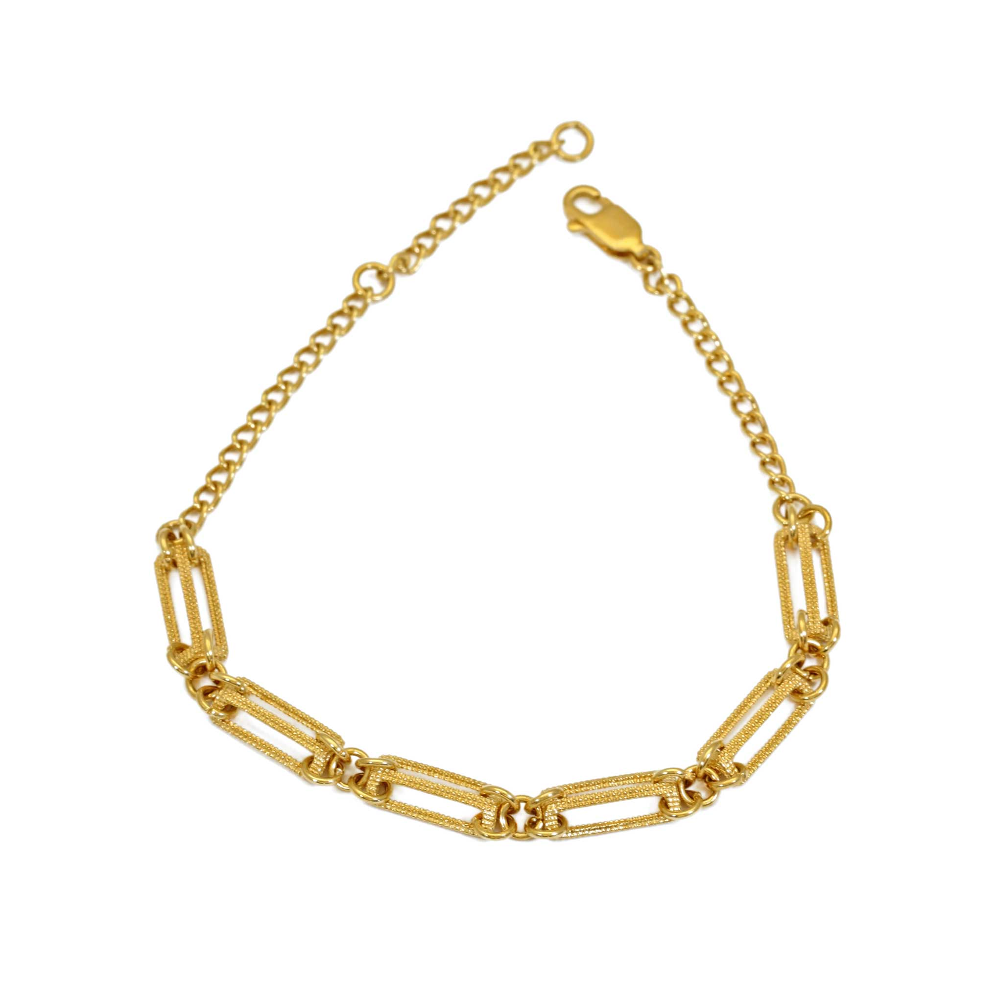 Gold bracelet with 6 sections
