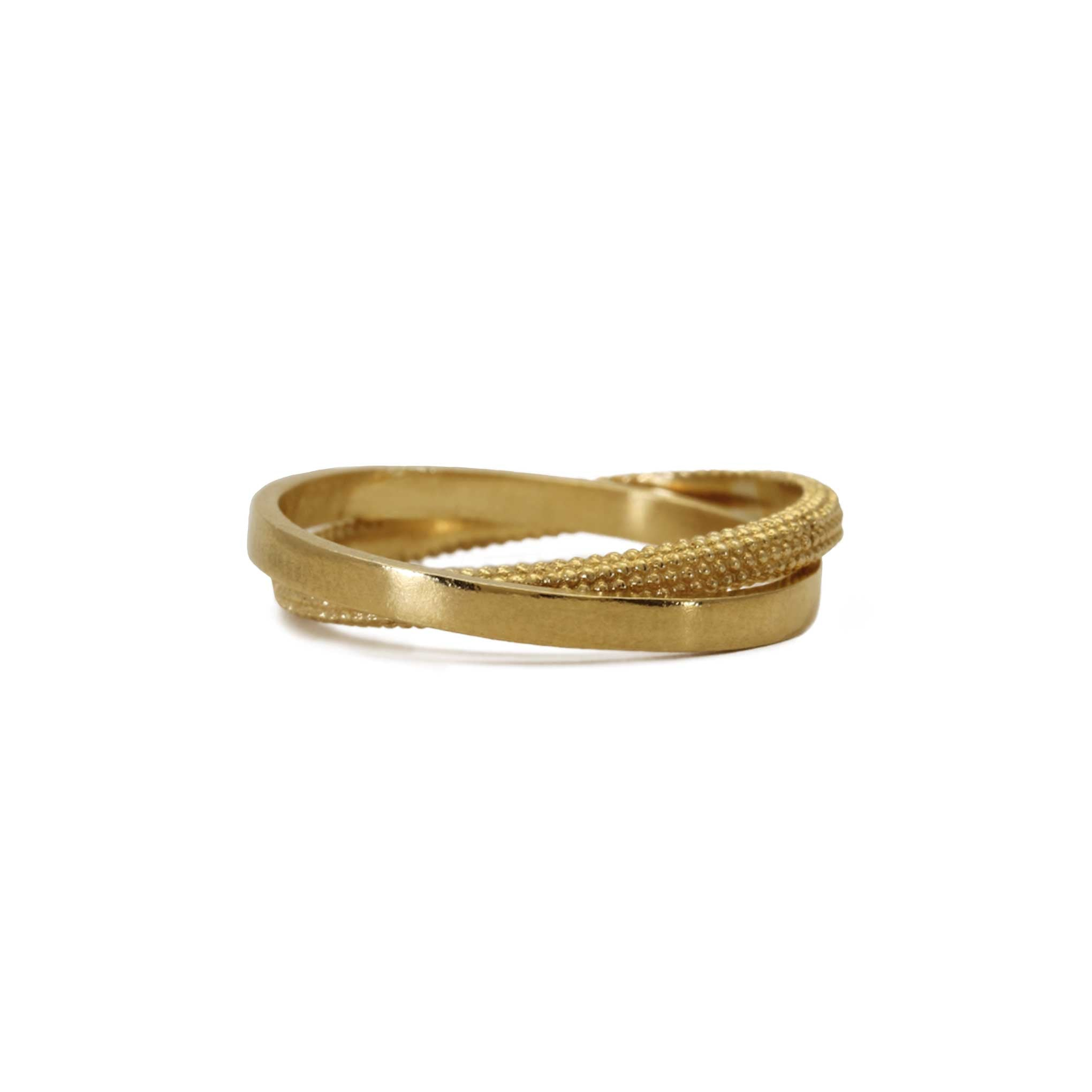 Shield Yellow Gold Ring