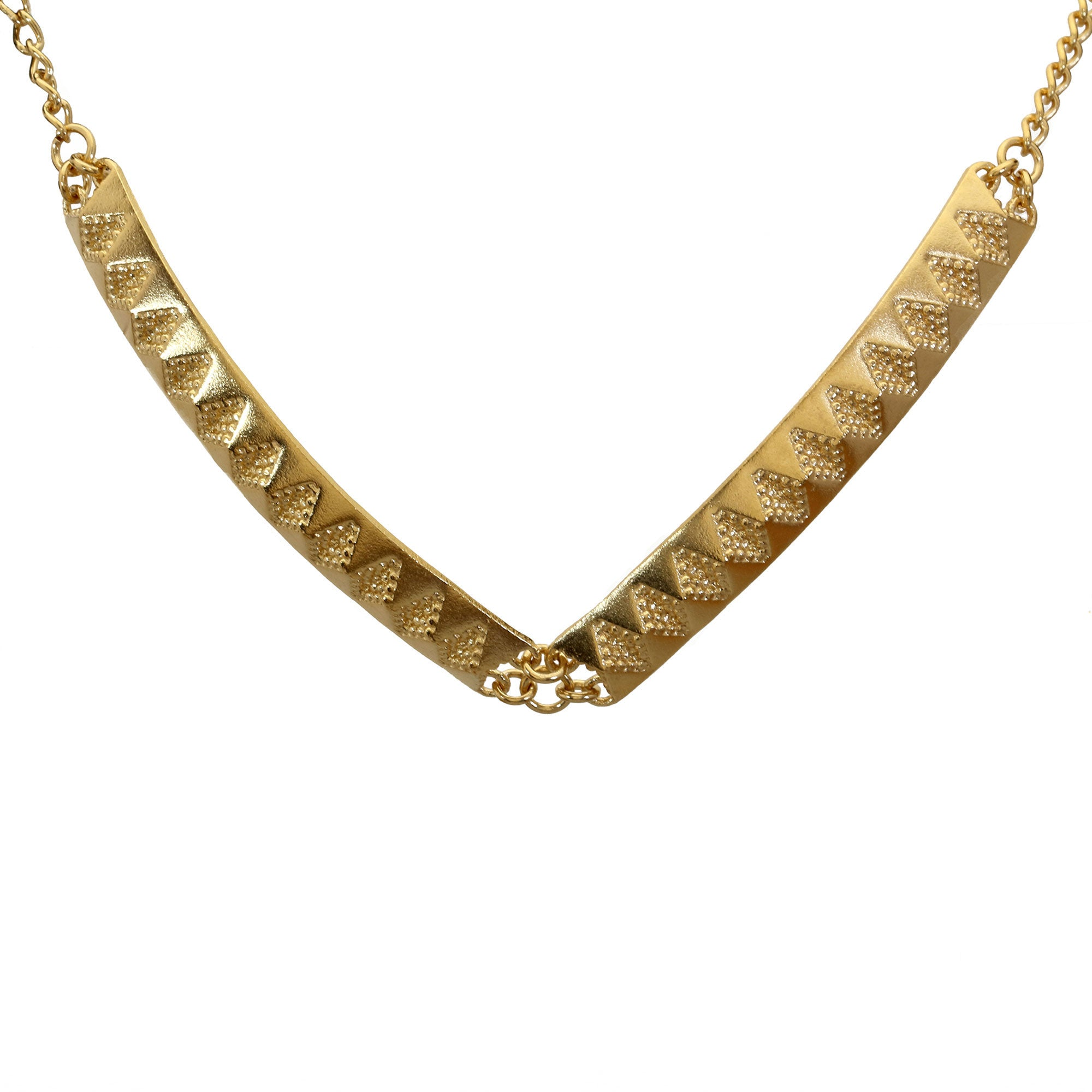 Chasm chunky yellow gold necklace