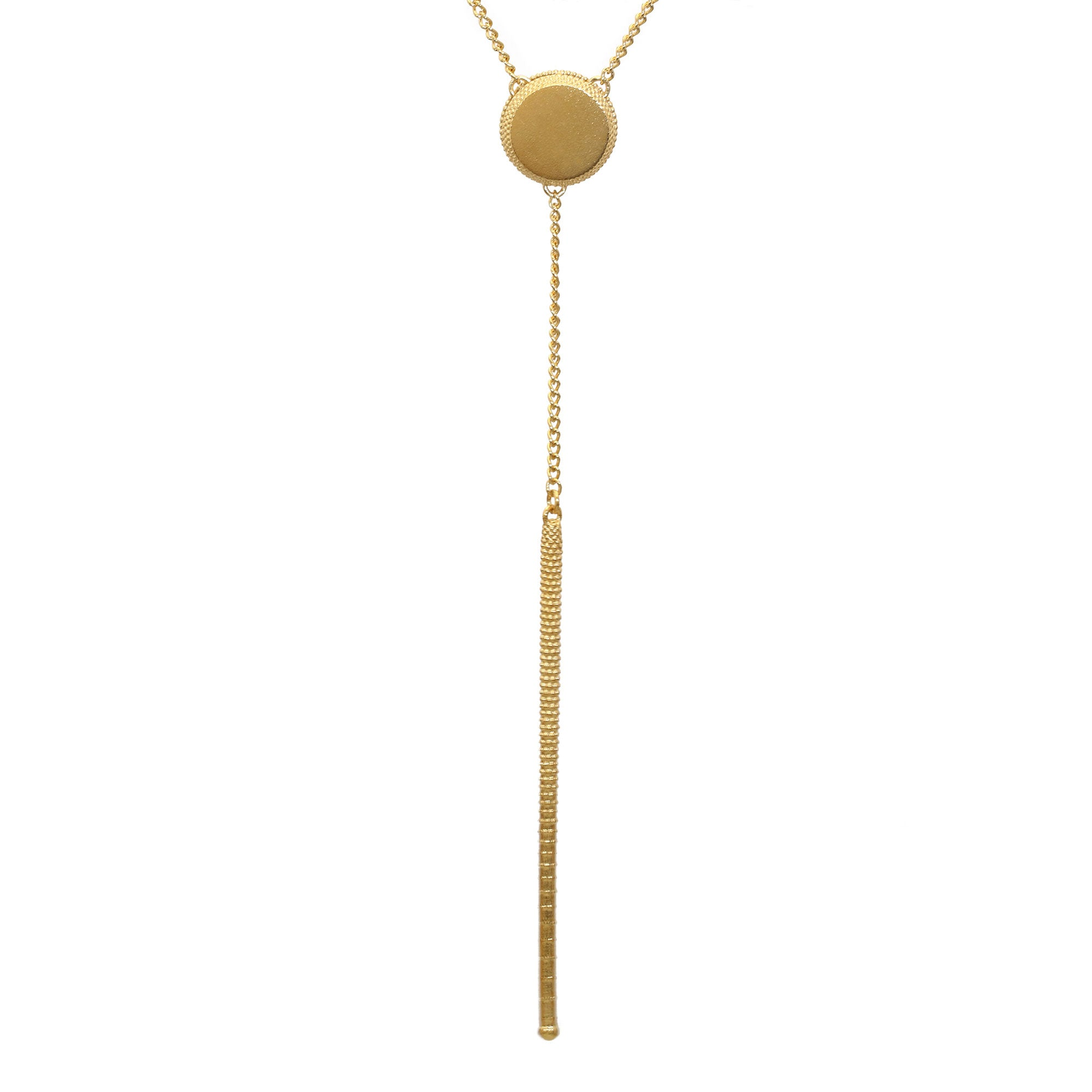 Paragon Yellow Gold Lariat Necklace