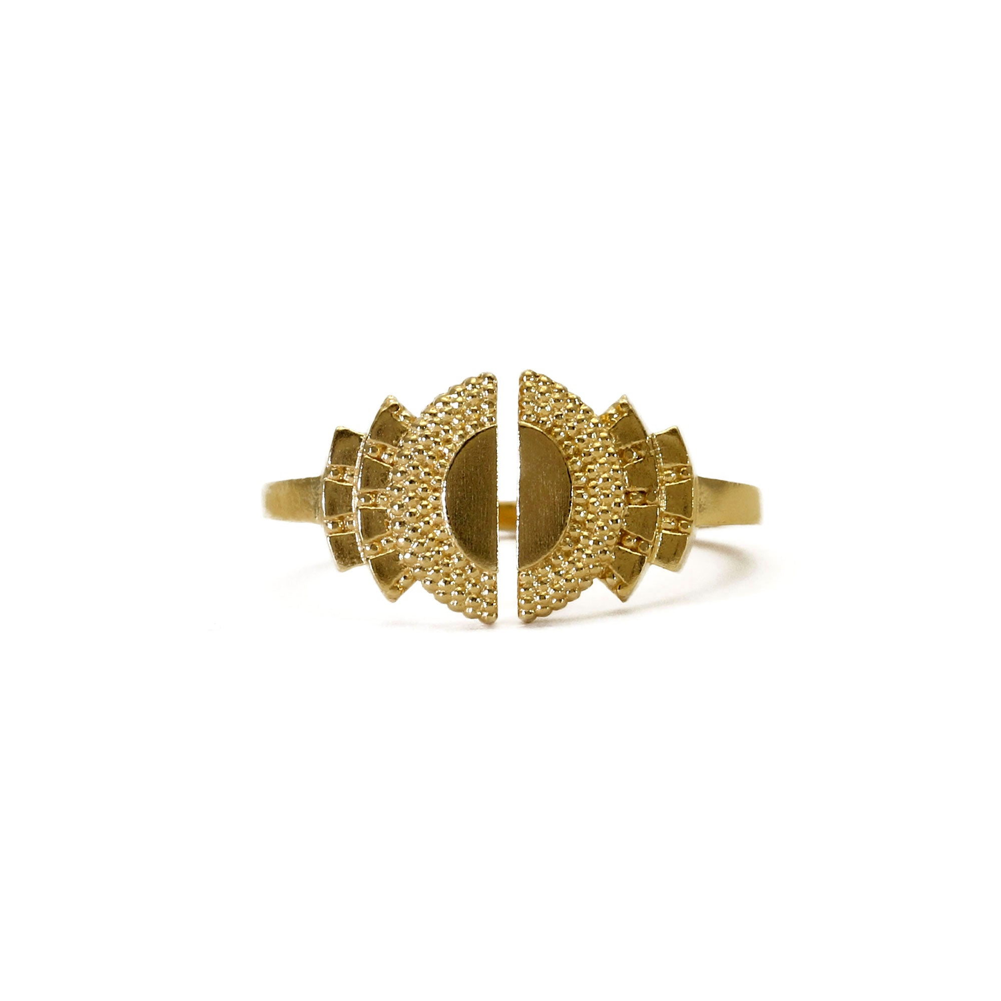 Ruptus Yellow Gold Open Ring