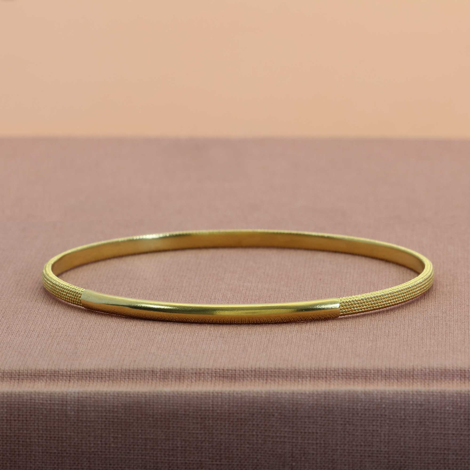 Shield Yellow Gold Bangle