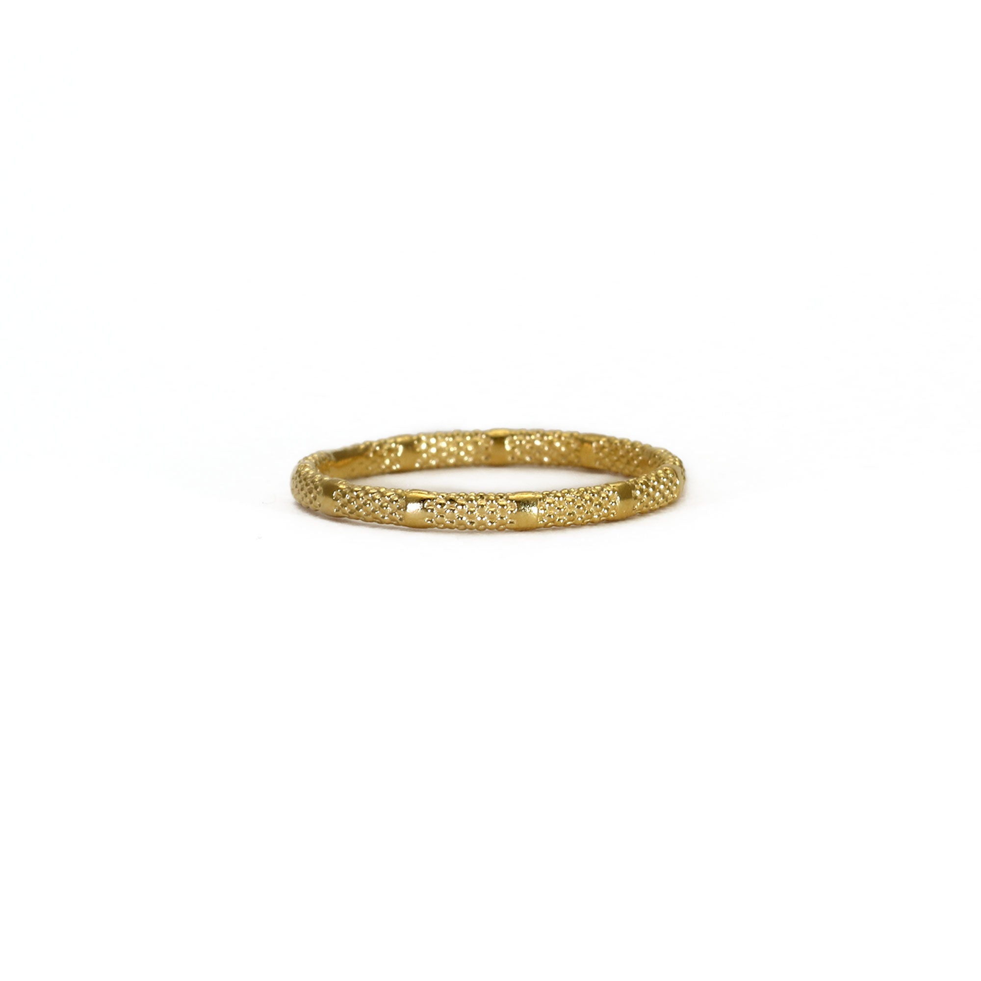 Fracture Yellow Gold Ring
