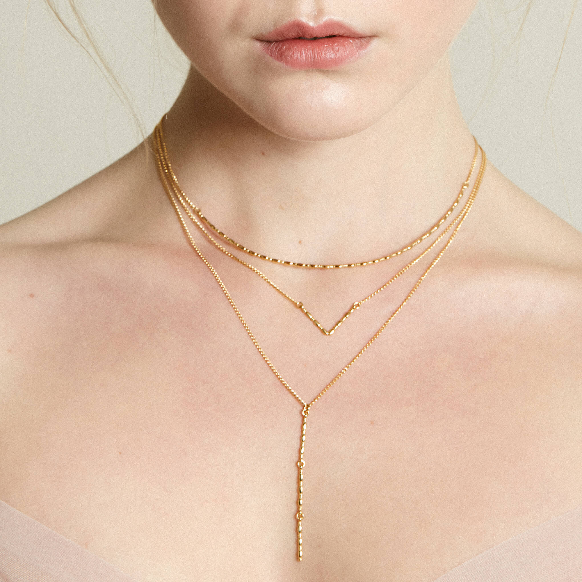 Gammarus Mirror Yellow Gold Necklace