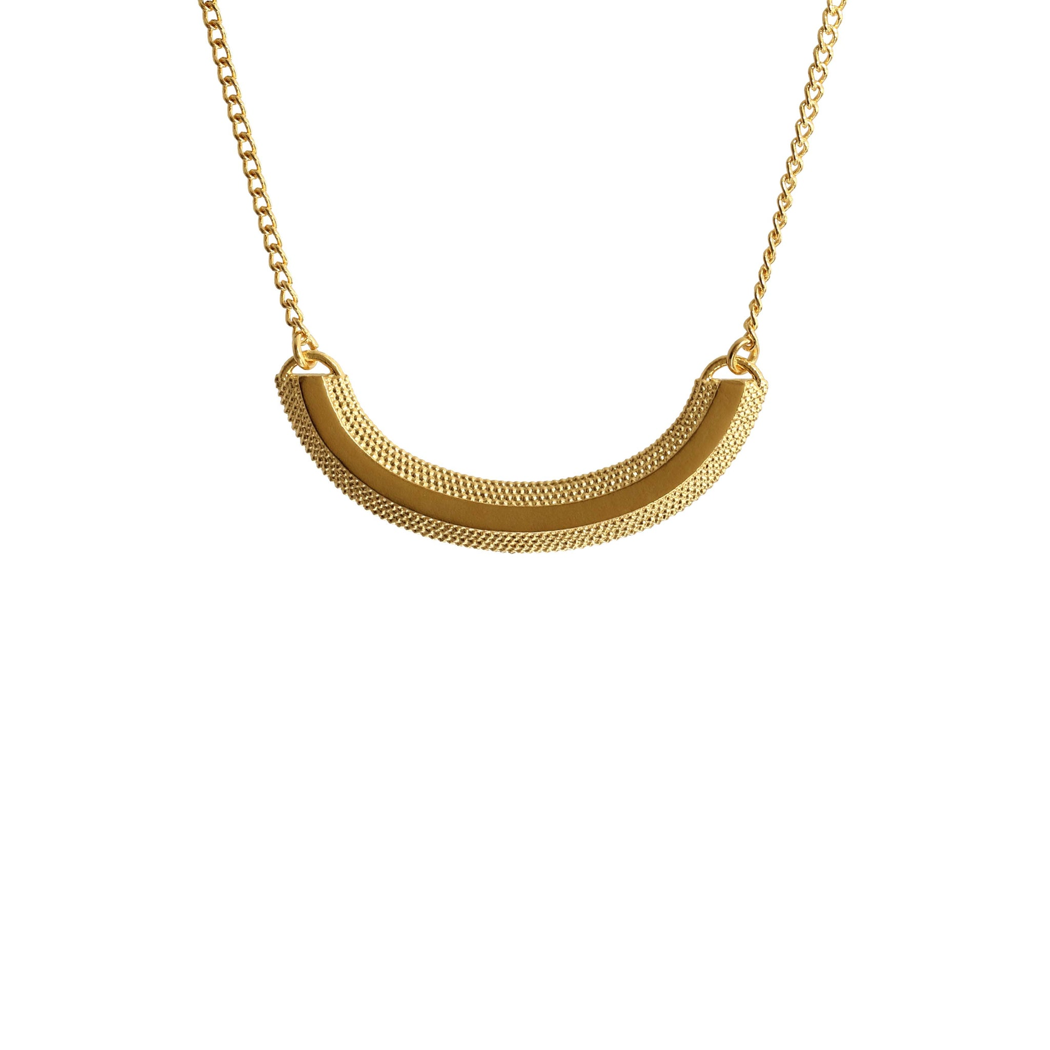 Magma Yellow Gold Curve Necklace