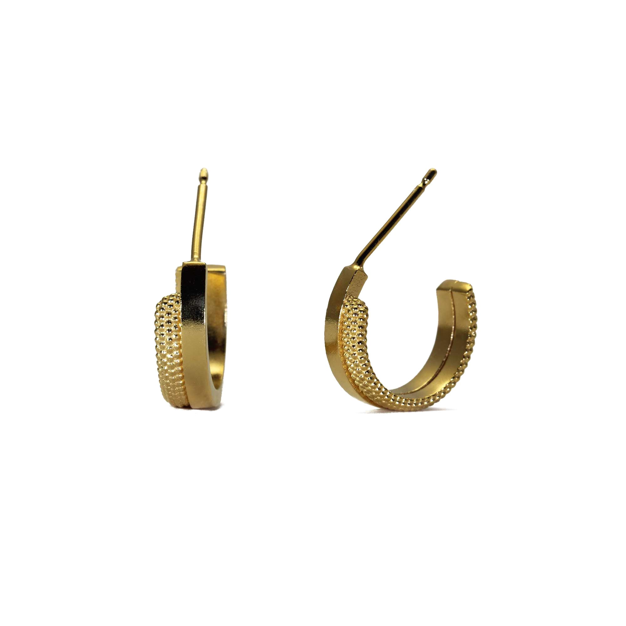 Source Yellow Gold Hoop Earrings