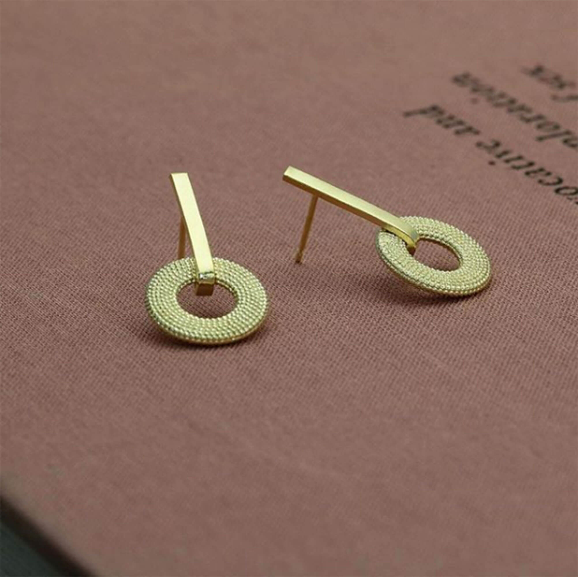 Weol Yellow Gold Drop Earrings