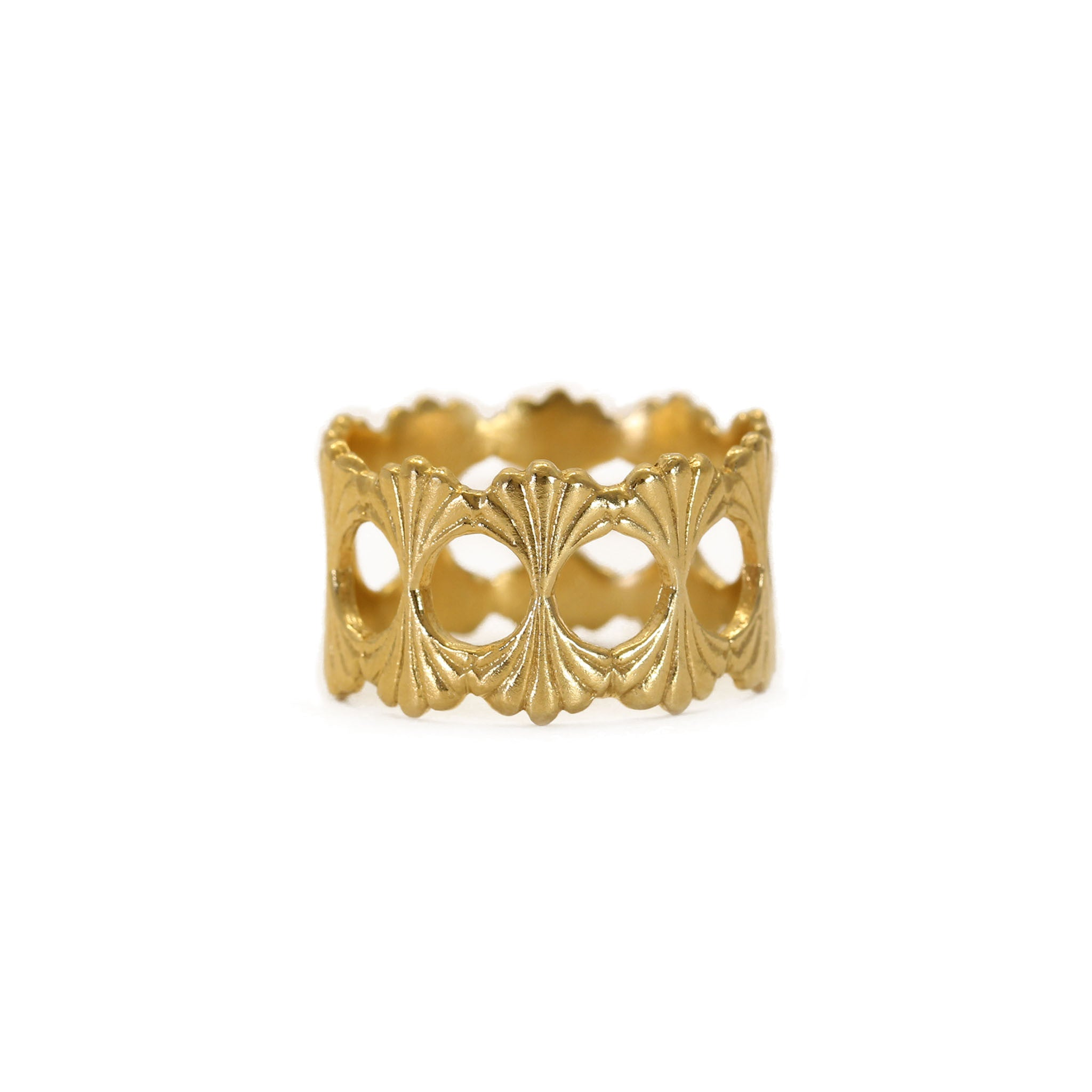 Temple Yellow Gold Ring