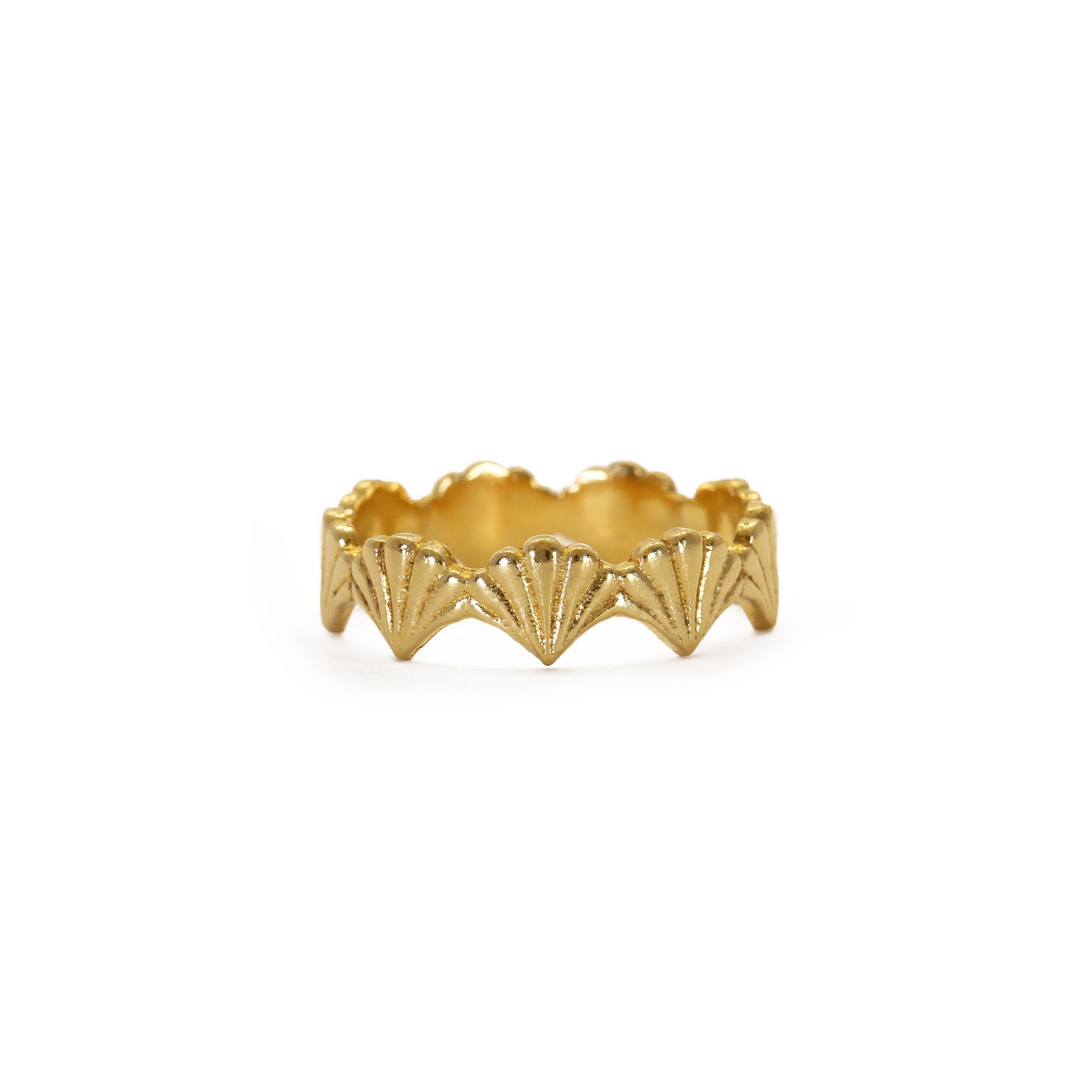 Portico Yellow Gold Stacking Ring
