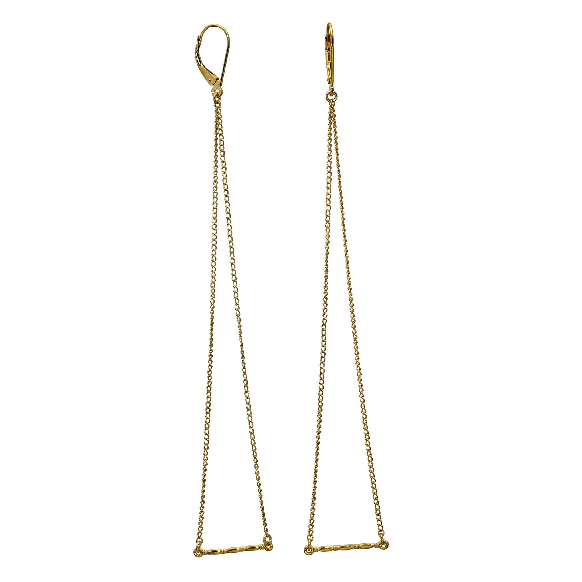 Gammarus Yellow Gold Shoulder Duster Earrings