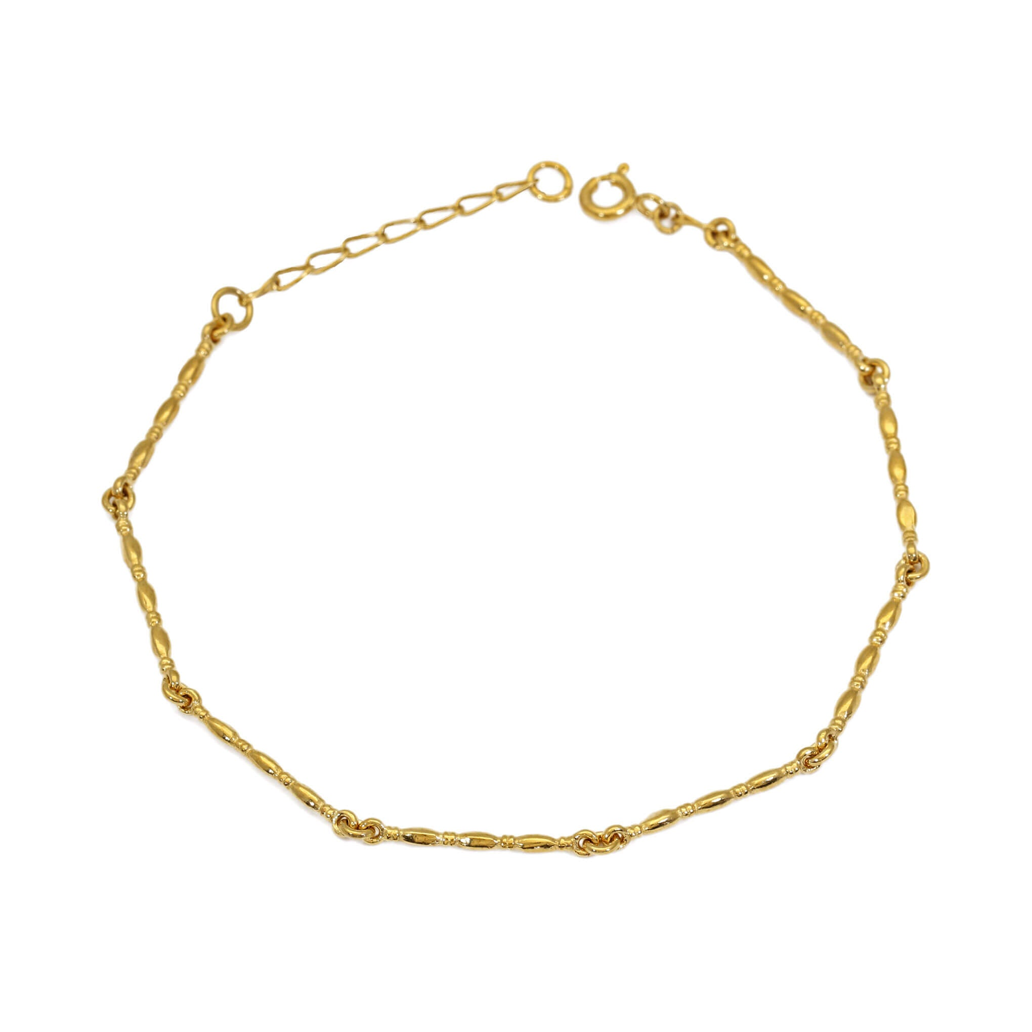 Gammarus Yellow Gold Bracelet on white background