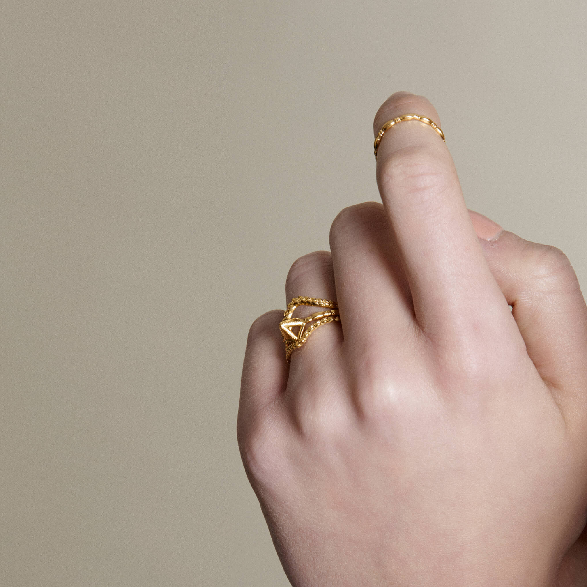 Mysid Yellow Gold Ring