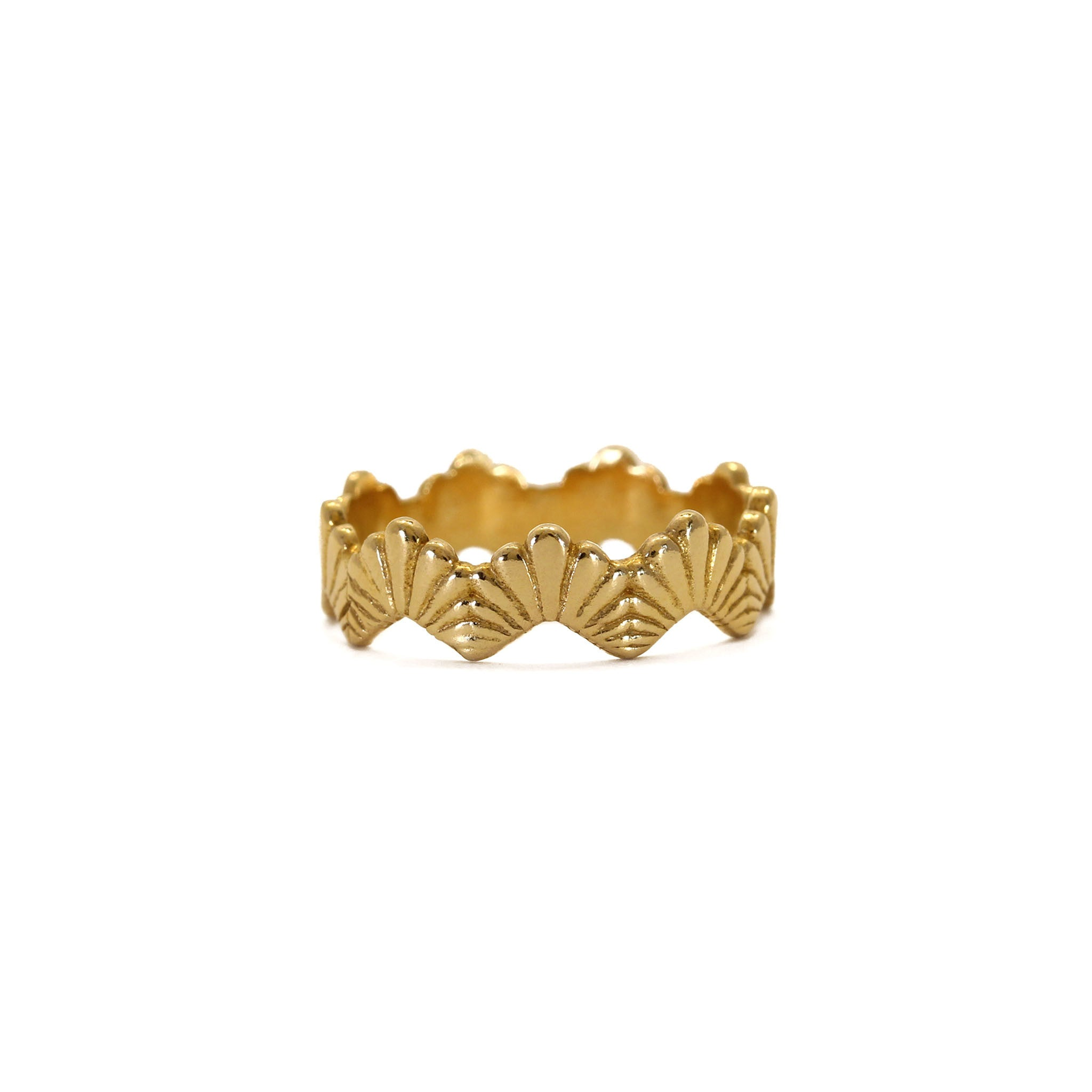 Loggia Yellow Gold Stacking Ring