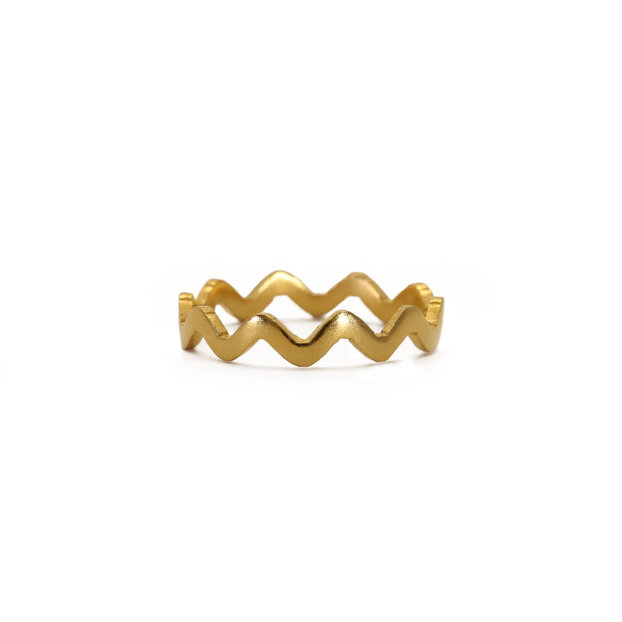Plain Villa Yellow Gold Stacking Ring