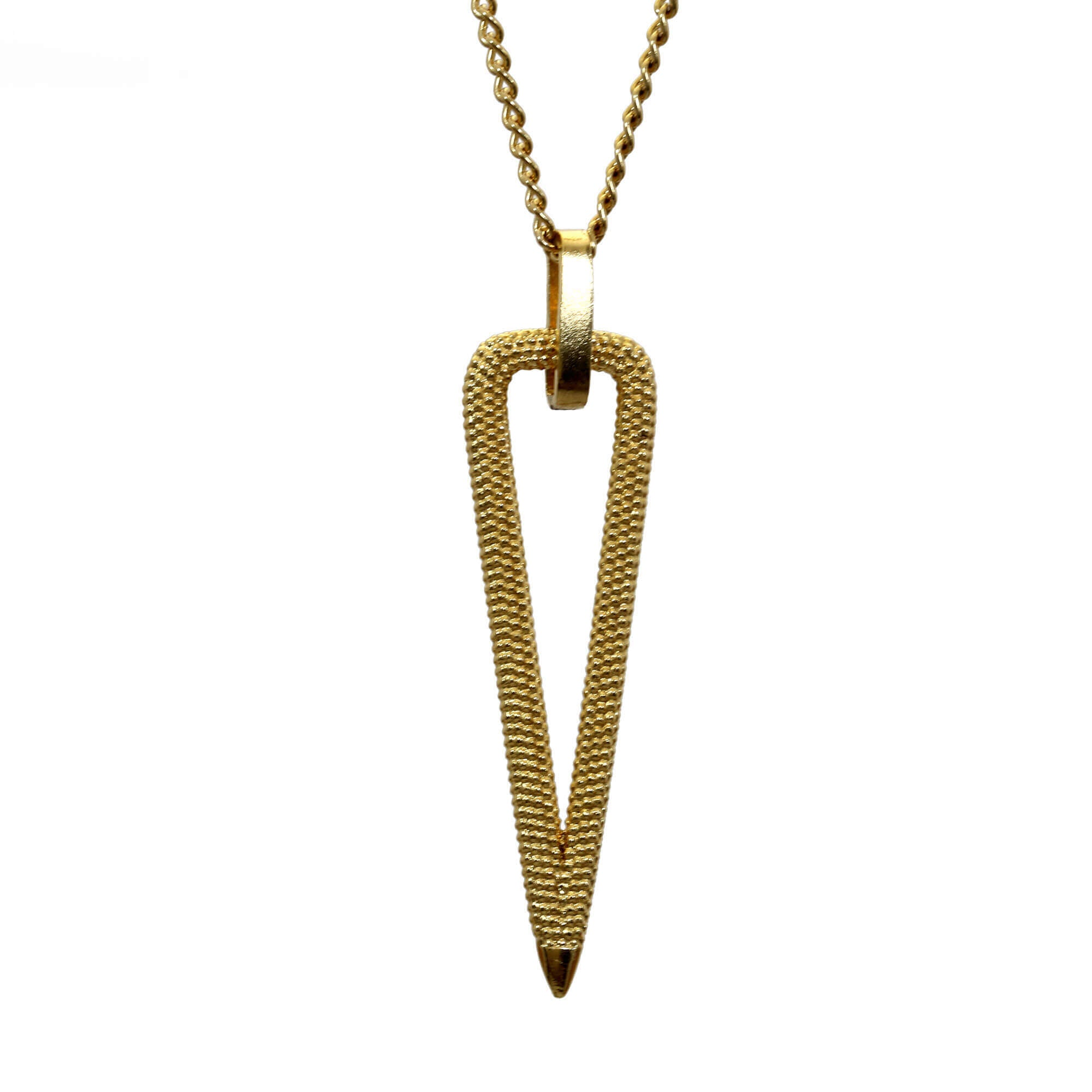 Zinnia Yellow Gold Pendant Necklace