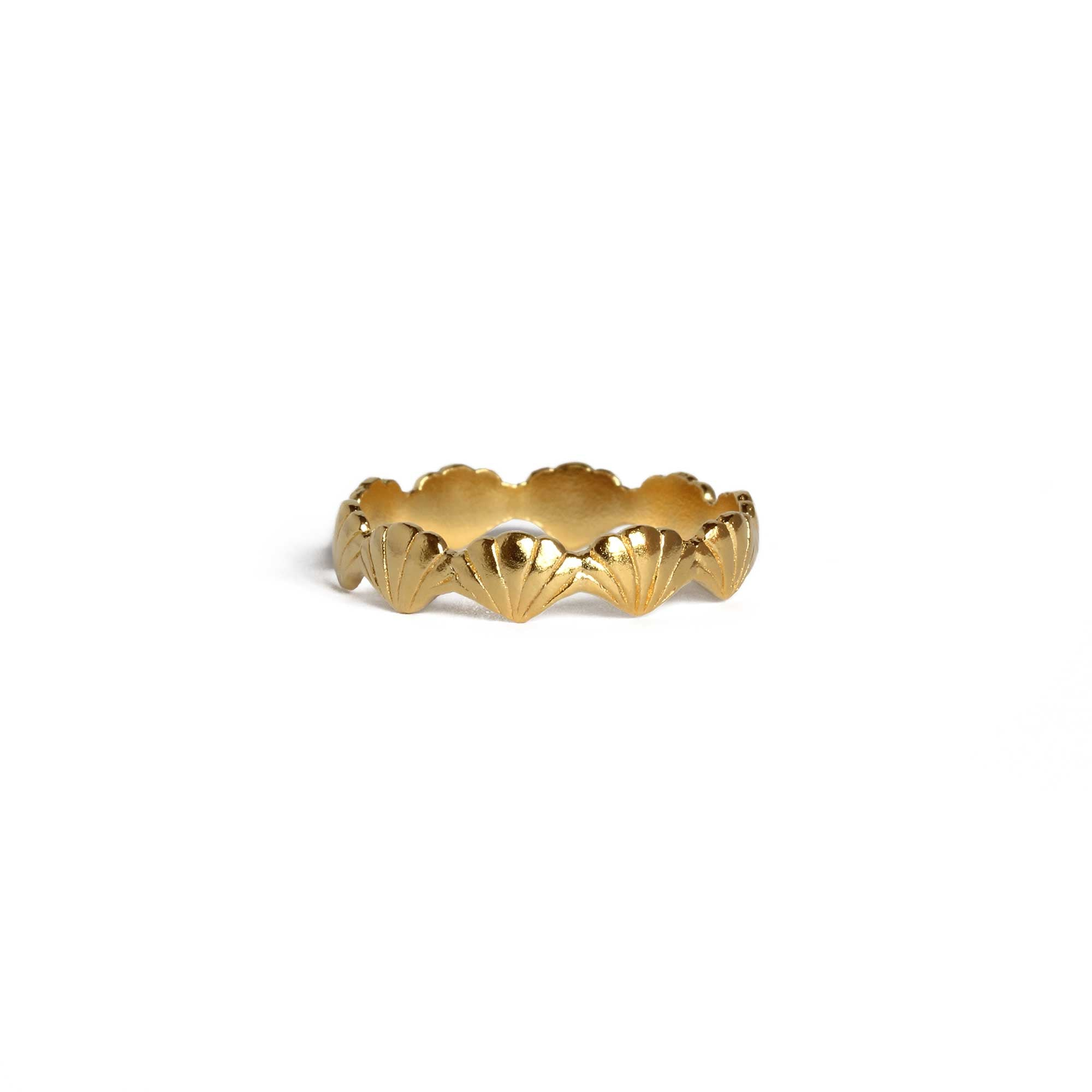 Tiny Shell Yellow Gold Ring