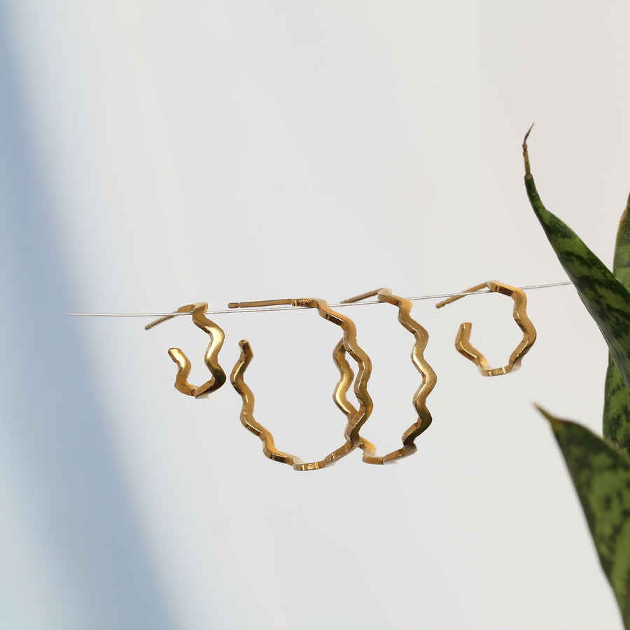 Plain Villa Yellow Gold Hoop Earrings