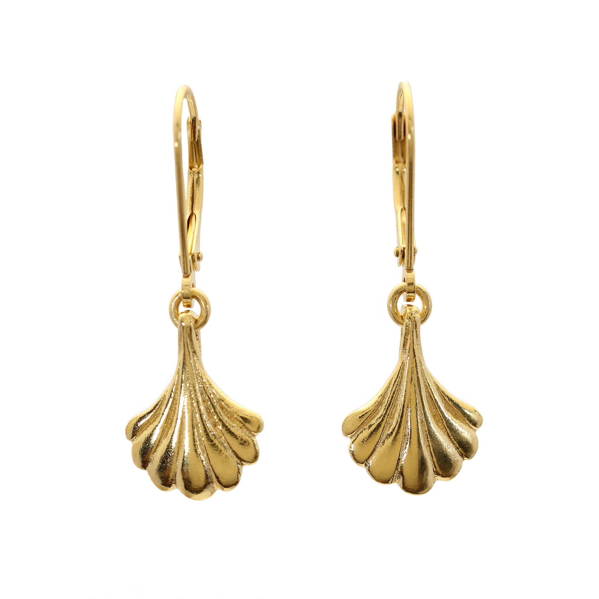 Wing Yellow Gold Drop Earrings