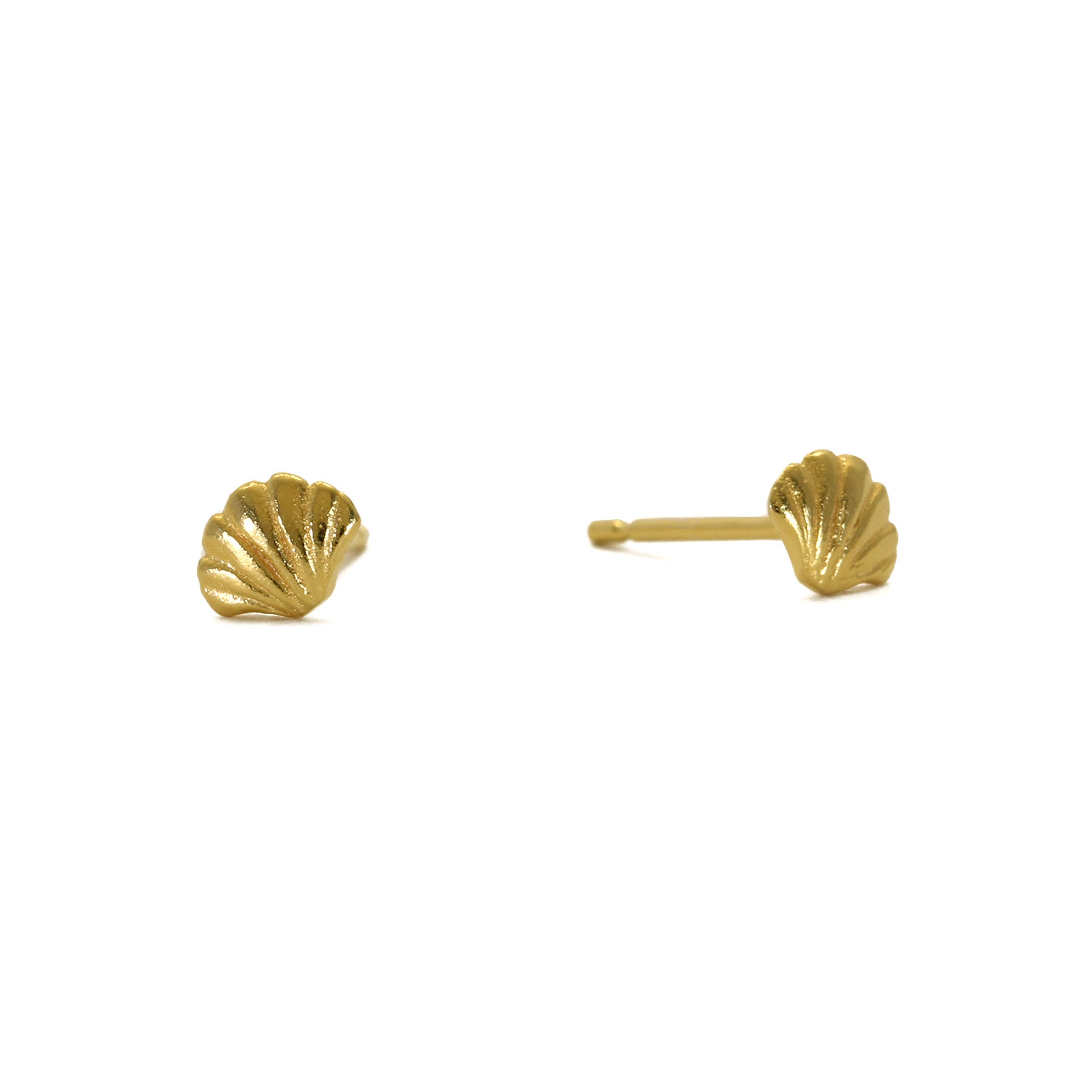 Tiny Wing Yellow Gold Stud Earrings