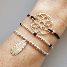 Dreamcatcher and Feather Charm Stacking Bracelets