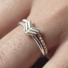 Sterling Silver Arrow Ring | Stacking Rings