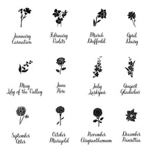 Birth Flower Chart