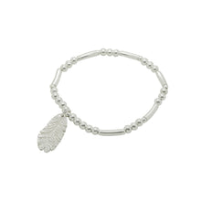 Sterling Silver Boho Feather Bracelet