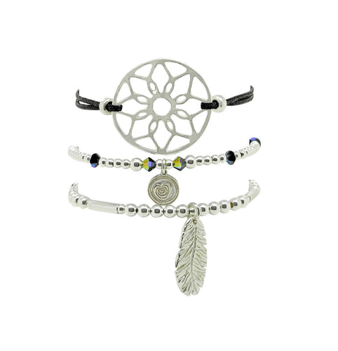 Handmade Dreamcatcher Friendship Bracelet Stack