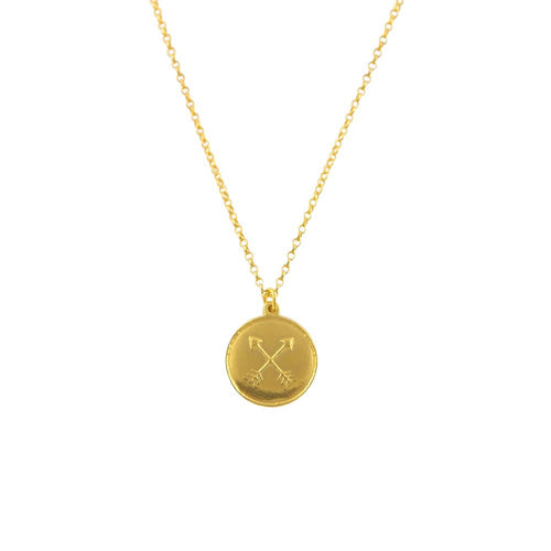 18ct Gold Vermeil Amulet Necklace for Friendship