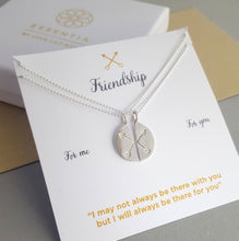 Silver Necklace on Presentation Card | Gift For BFF