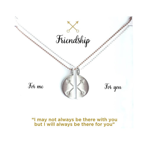 Crossed Arrows Set of 2 Necklaces For Friendship