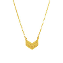 Gold Chevron Style Arrow Necklace For Strength and Protection