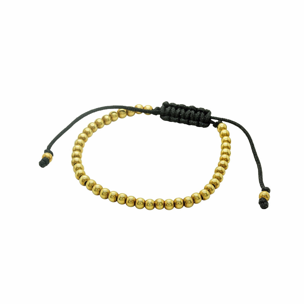 Gold Beaded Friendship Bracelet