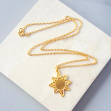 18ct Gold Vermeil Sun Necklace | Essentia BY Love Lily Rose