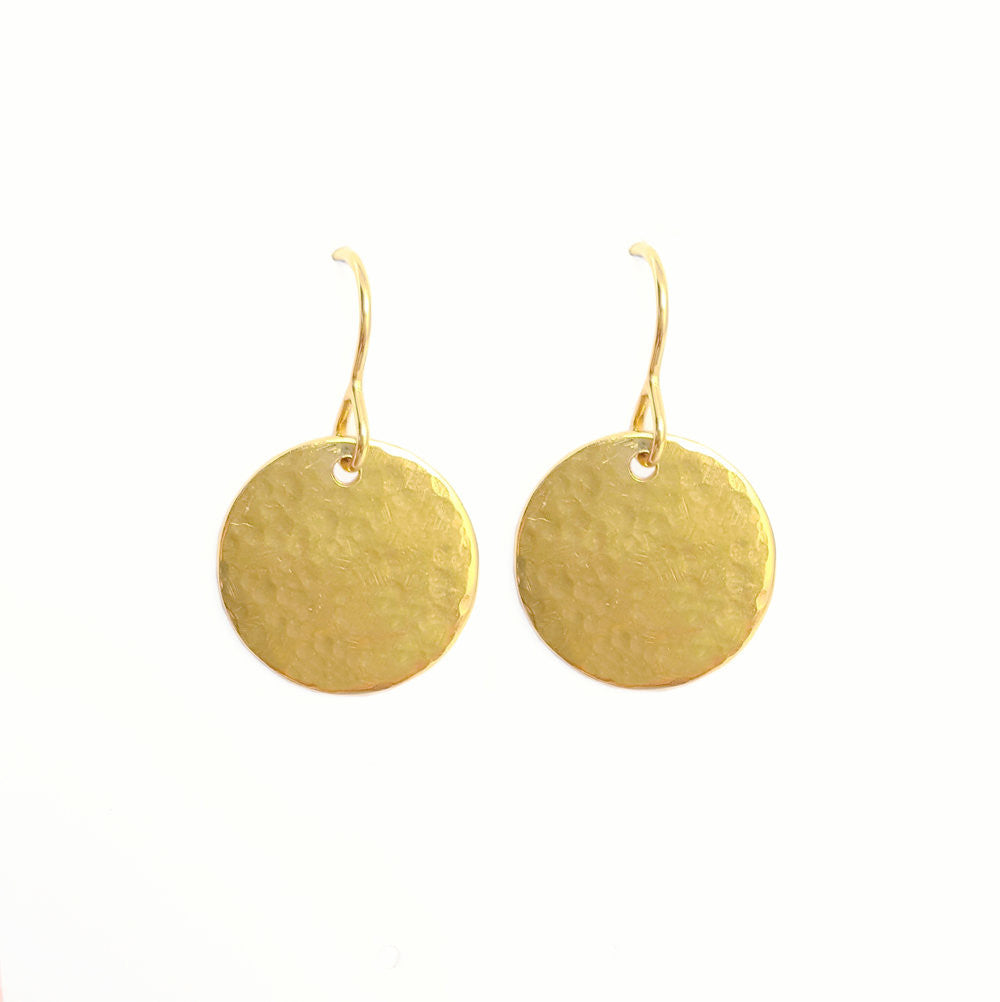 18ct Gold Plated Halo Drop Earrings