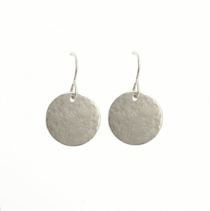 Handmade Sterling Silver Halo Earrings