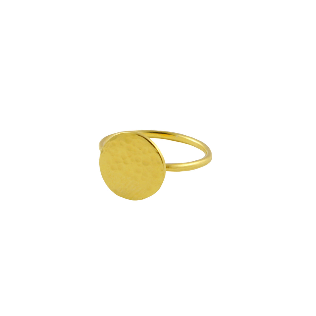 18ct Gold Vermeil Halo Ring | Contemporary Statement Ring