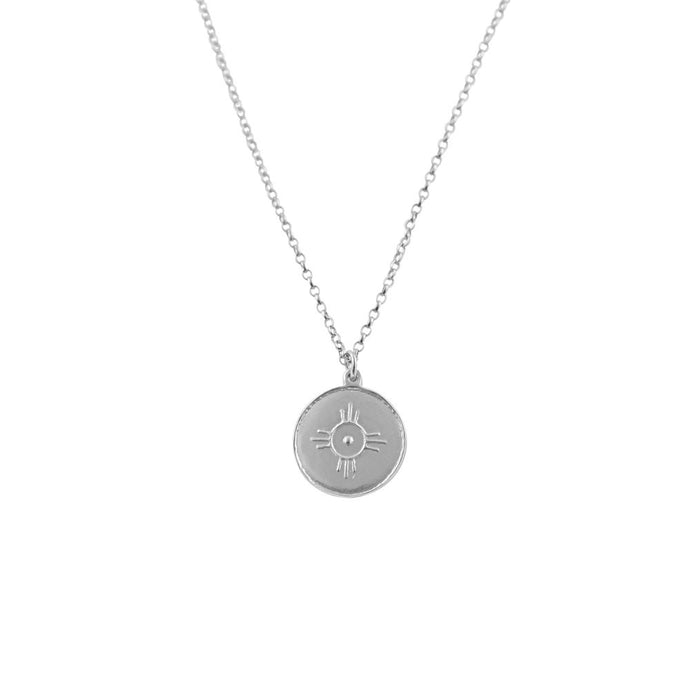 Sterling Silver Amulet Necklace for Happiness