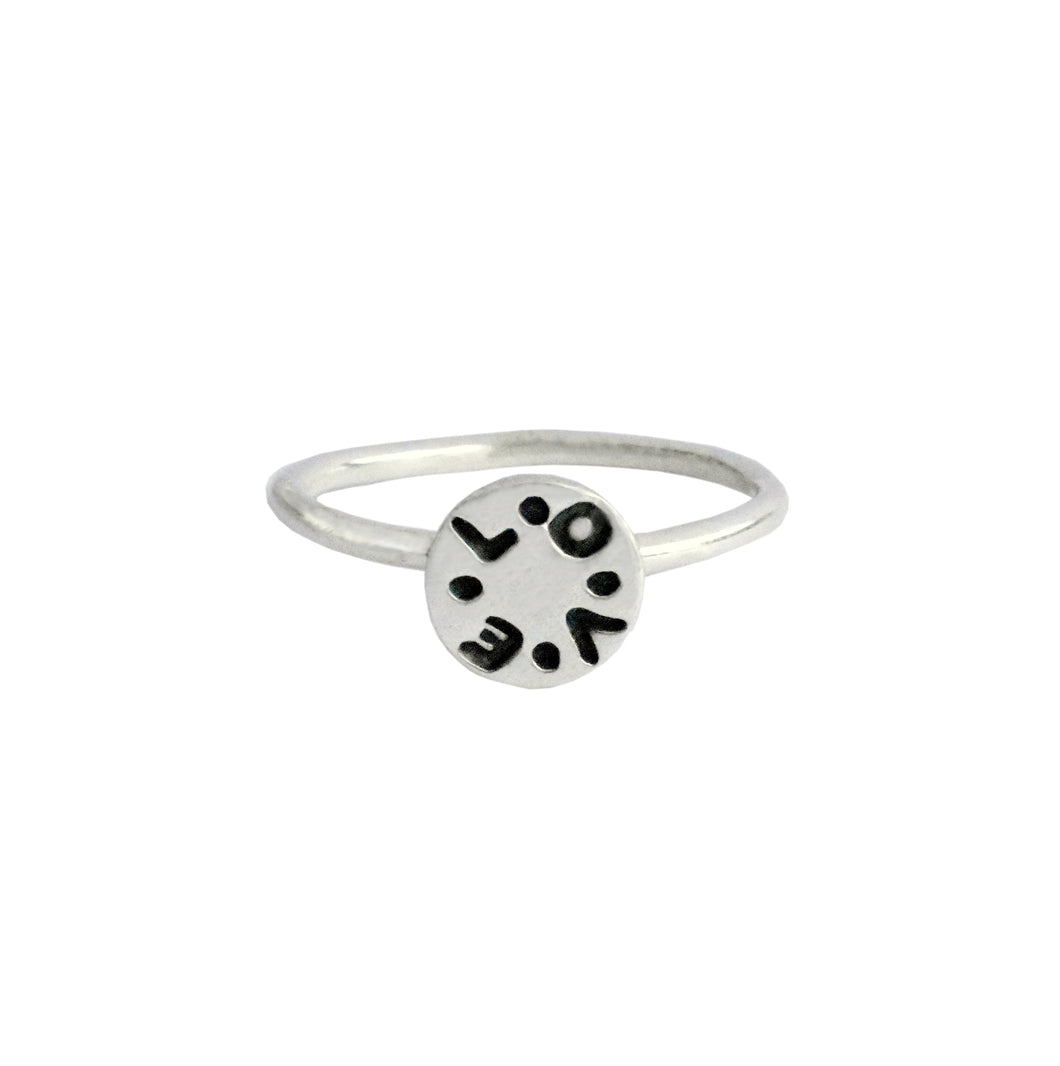 Sterling Silver LOVE Ring | Valentine's Gift For Her