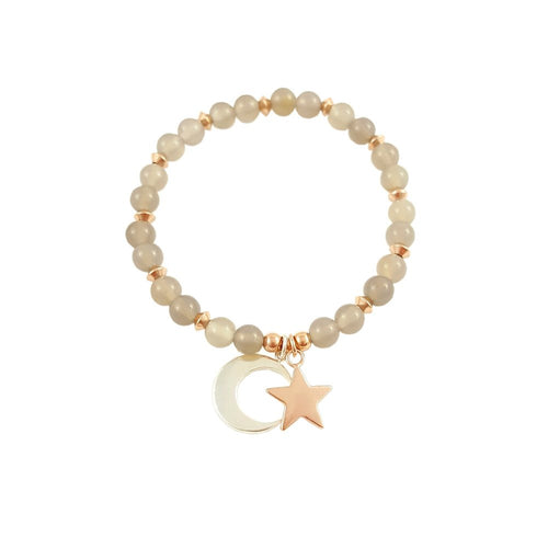 Moon and Star Bracelet | Stacking Bracelet