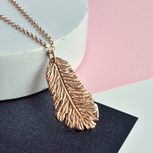 Rose Gold Feather Necklace | Christmas Gift For Her