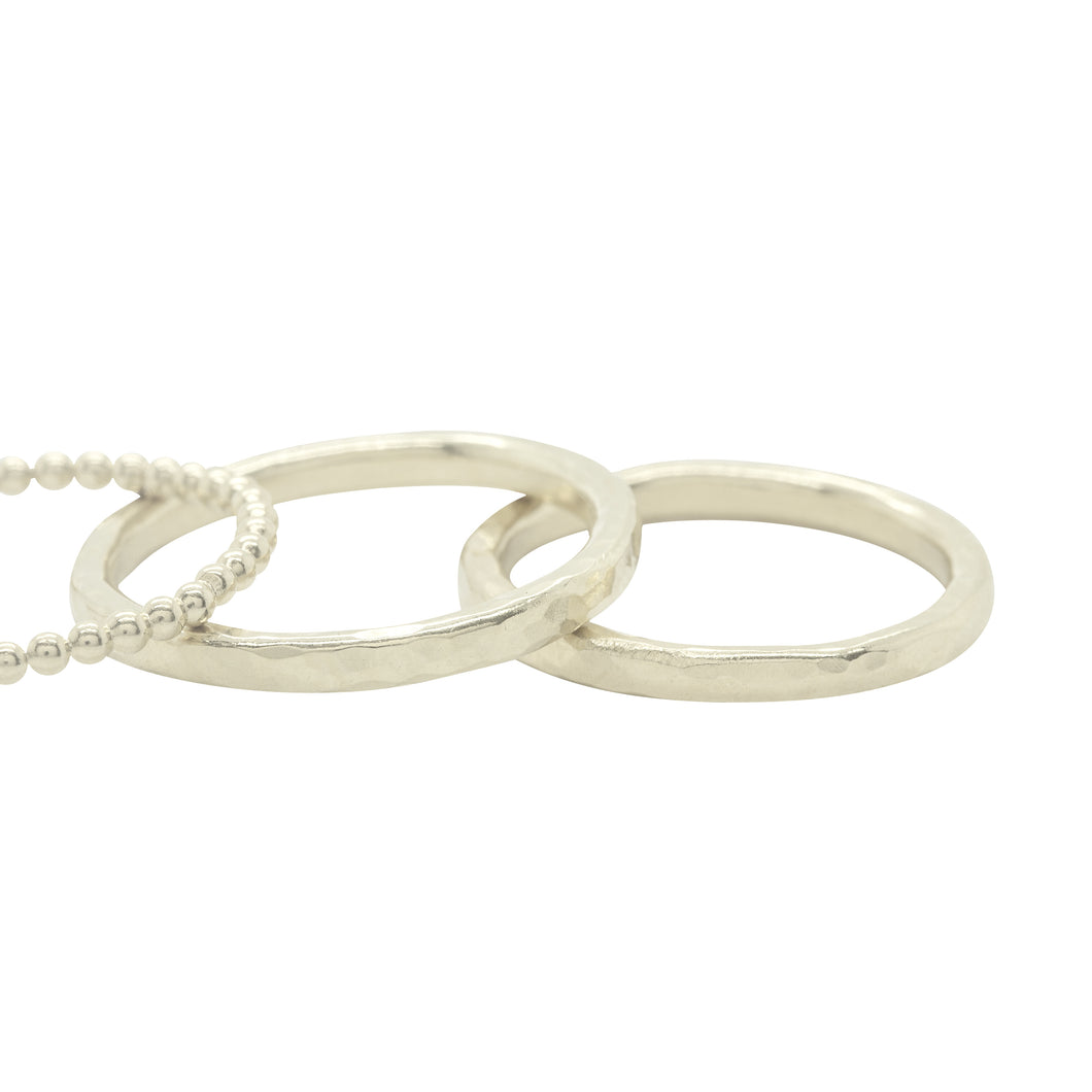 Sterling Silver Hammered Stacking Rings
