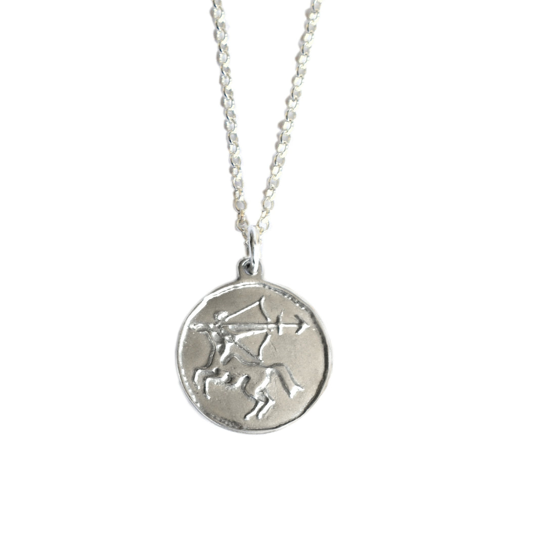 Sagittarius Zodiac Necklace | Silver Horoscope Jewellery