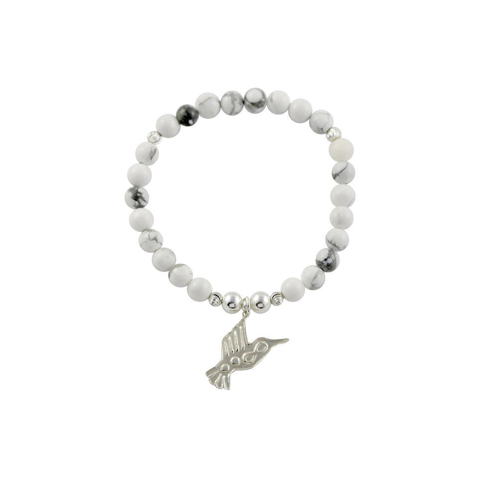 Silver Hummingbird Stacking bracelet