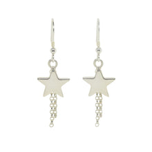 Silver Shooting Star Earrings | Celestial Jewellery