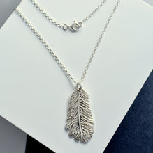 Handmade Sterling Silver Feather Necklace