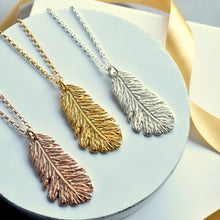 Rose, Gold and Silver Feather Necklace | Jewellery Gift For Sister