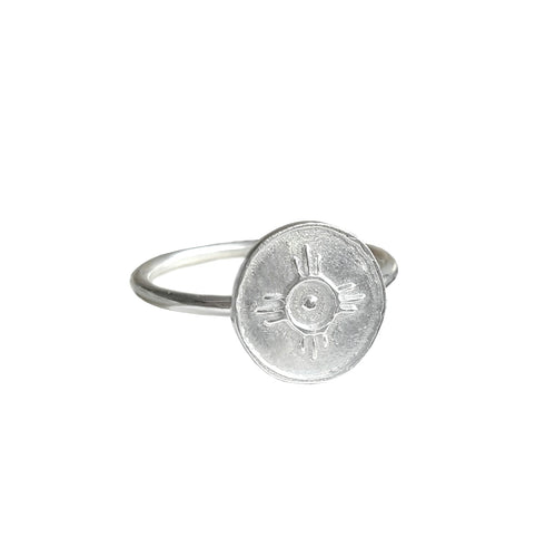 Sterling Silver Amulet Ring For Happiness