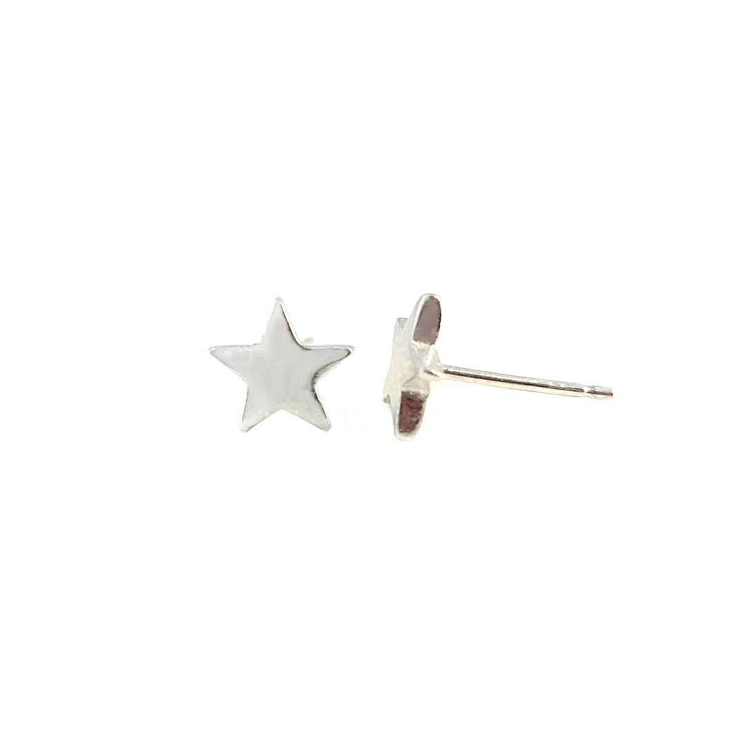 Silver Star Stud Earrings | Essentia By Love Lily Rose