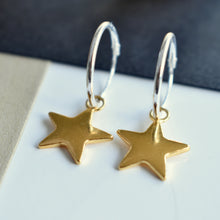 Handmade Sterling Silver and Gold Vermeil Star Earrings